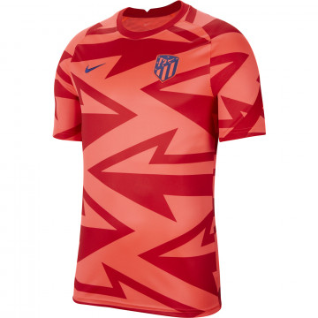Maillot avant match Atlético Madrid rouge 2021/22