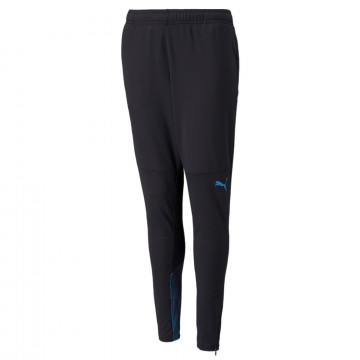 Pantalon entraînement junior OM noir bleu 2021/22