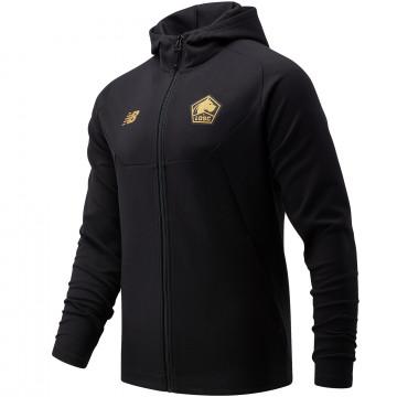 Veste survêtement à capuche LOSC noir or 2021/22