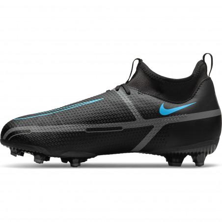 Nike Phantom GT2 junior montante Academy FG/MG noir bleu