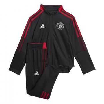 Ensemble survêtement enfant Manchester United noir rouge 2021/22