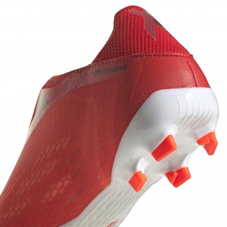 adidas X SPEEDFLOW.3 LaceLess FG rouge blanc