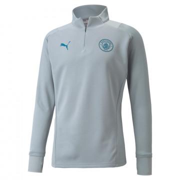 Sweat zippé Manchester City Fleece gris bleu 2021/22