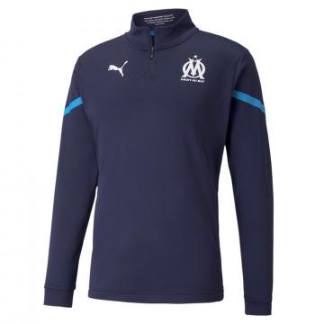 Sweat zippé avant match OM bleu 2021/22