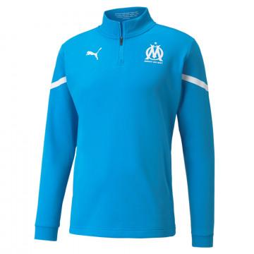 Sweat zippé avant match OM bleu blanc 2021/22