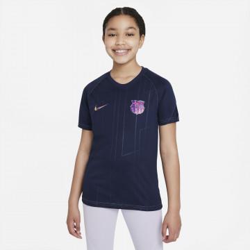 Maillot avant match junior FC Barcelone violet 2021/22