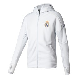 Veste Real Madrid Anthem blanche 2016 - 2017