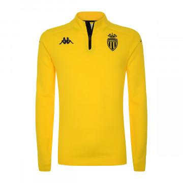 Sweat zippé junior AS Monaco jaune 2021/22