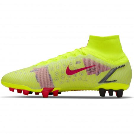 Nike Mercurial Superfly 8 Elite AG jaune rouge