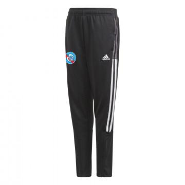 Pantalon survêtement junior RC Strasbourg noir blanc 2021/22