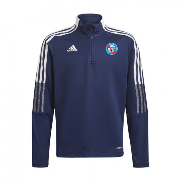 Sweat zippé junior RC Strasbourg bleu blanc 2021/22