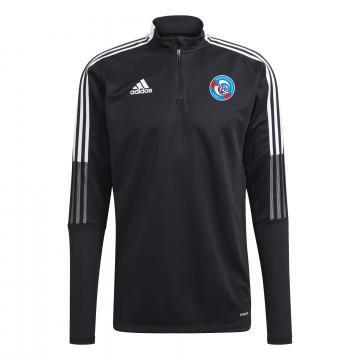 Sweat zippé RC Strasbourg noir blanc 2021/22