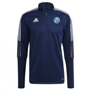 Sweat zippé RC Strasbourg bleu blanc 2021/22