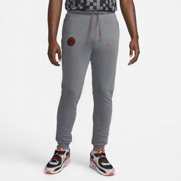 Pantalon survêtement PSG Fleece gris rouge 2021/22