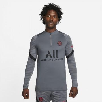 Sweat zippé PSG Strike gris rouge 2021/22