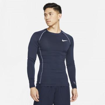 Sous maillot manches longues Nike Pro bleu