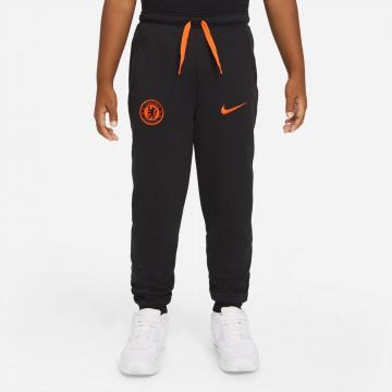 Pantalon survêtement junior Chelsea noir orange 2021/22
