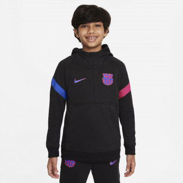 Sweat zippé junior FC Barcelone Fleece noir rose 2021/22