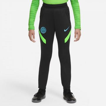 Pantalon survêtement junior Inter Milan Strike noir vert 2021/22