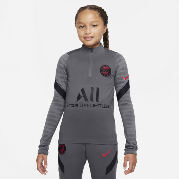 Sweat zippé junior PSG Strike gris rouge 2021/22