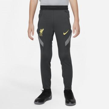 Pantalon survêtement junior Liverpool Strike noir jaune 2021/22