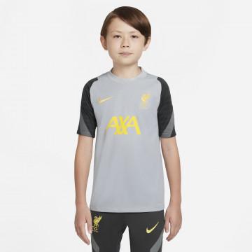Maillot entraînement junior Liverpool Strike gris jaune 2021/22