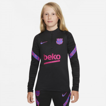 Sweat zippé juniot FC Barcelone Strike noir rose 2021/22