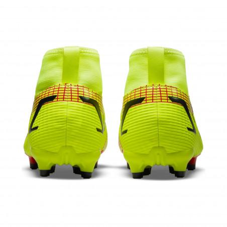 Nike Mercurial Superfly 8 junior Academy FG/MG jaune rouge