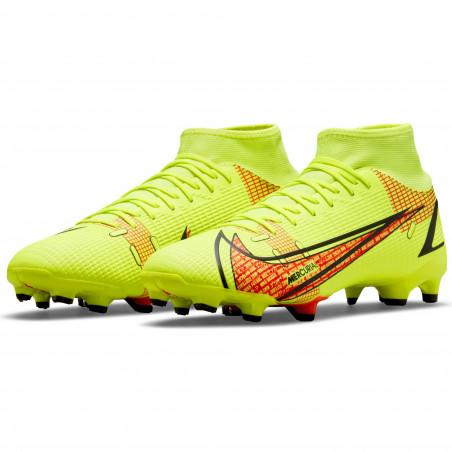 Nike Mercurial Superfly 8 Academy FG/MG jaune rouge