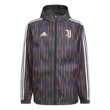 Coupe vent Juventus noir orange 2021/22