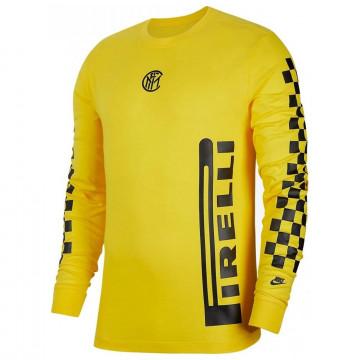 T-shirt manches longues Inter Milan jaune 2020/21