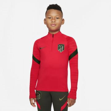 Sweat zippé junior Atlético Madrid rouge noir 2021/22