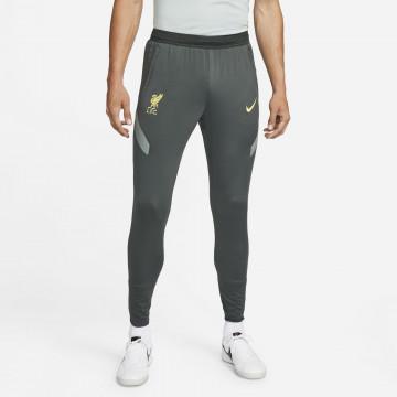 Pantalon survêtement Liverpool Strike gris jaune 2021/22