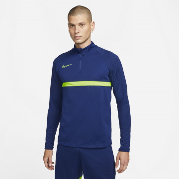 Sweat zippé Nike Academy bleu vert 2021/22
