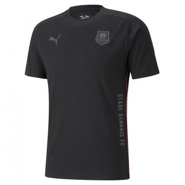 T-shirt Stade Rennais Casual noir 2021/22