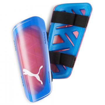 Protège-tibias Puma Ultra Light Strap bleu rouge
