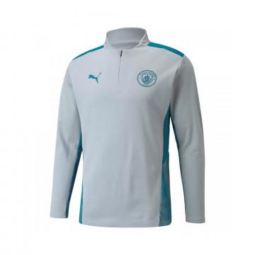 Sweat zippé junior Manchester City gris bleu 2021/22
