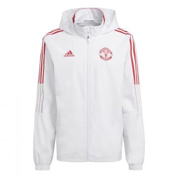 Veste imperméable Manchester United blanc rouge 2021/22