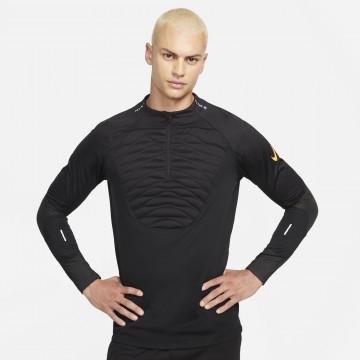 Sweat zippé Nike Therma-Fit noir orange