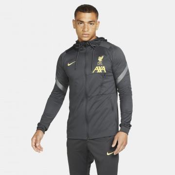 Veste survêtement à capuche Liverpool noir jaune 2021/22