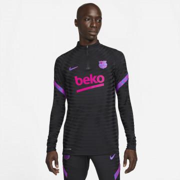 Sweat zippé FC Barcelone Strike Elite noir rose 2021/22