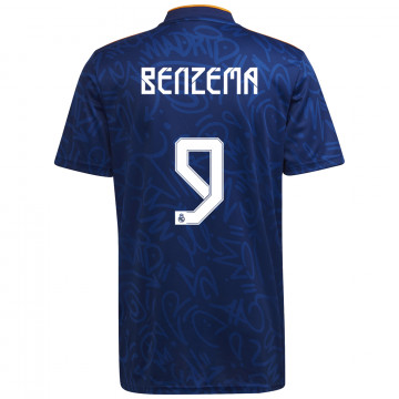 Maillot Benzema Real Madrid extérieur 2021/22