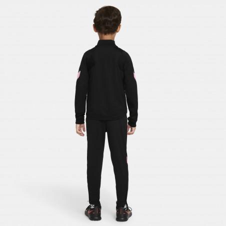 Ensemble survêtement enfant PSG noir rose 2021/22