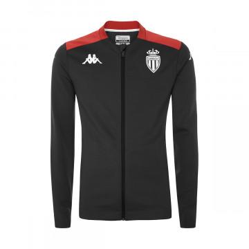 Veste survêtement AS Monaco noir rouge 2021/22
