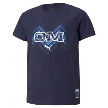 T-shirt junior OM bleu 2021/22