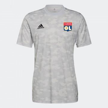 Maillot avant-match OL gris 2021/22