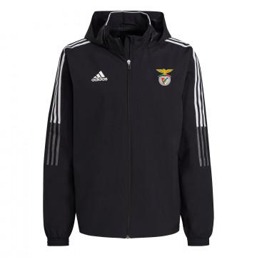 Veste imperméable Benfica noir blanc 2021/22