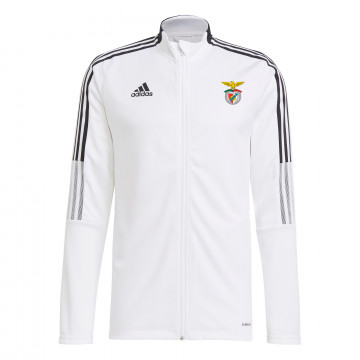 Veste survêtement Benfica Anthem blanc noir 2021/22