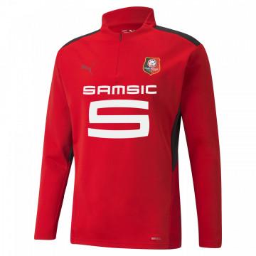 Sweat zippé junior Stade Rennais rouge 2021/22