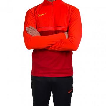 Sweat zippé Nike Academy rouge jaune